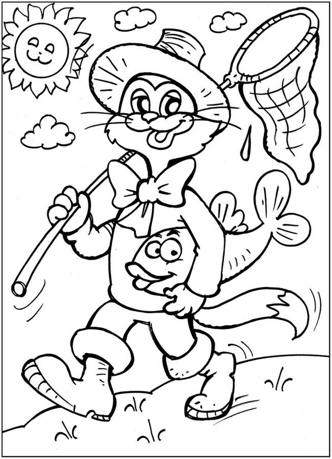 Загадка про кота леопольда для детей
